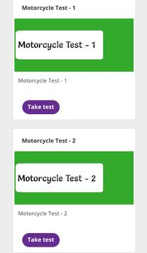Motorcycle Theory Test poster