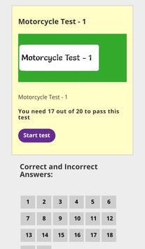 Motorcycle Theory Test screenshot 1