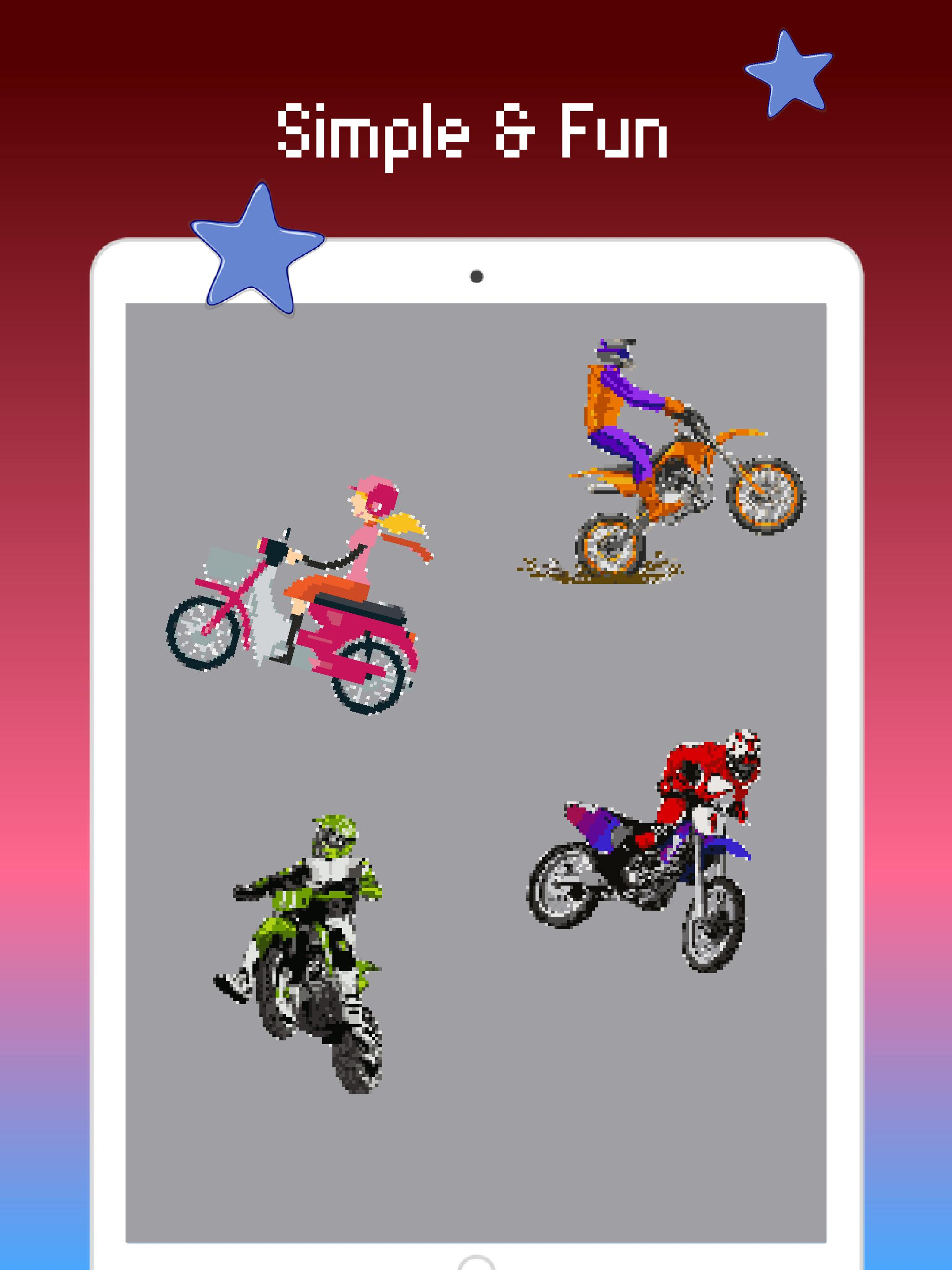 Halaman Mewarnai Sepeda Motor Warna Dengan Angka For