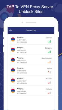 TAP To VPN Proxy Server - Sites screenshot 1