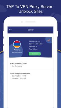 TAP To VPN Proxy Server - Sites screenshot 2