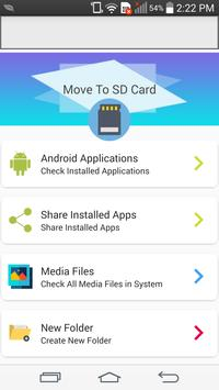 File Move Phone to SD card & Apps Share screenshot 2