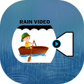 Rain video maker with music icon
