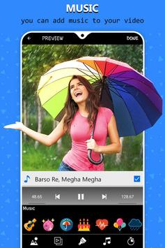 Rain video maker with music screenshot 2