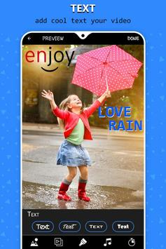 Rain video maker with music screenshot 5