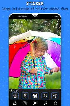 Rain video maker with music screenshot 6