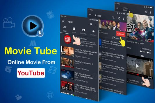 MovieTube - Movie Video Tube Player for YouTube poster