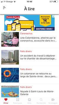France-Antilles Guadeloupe Actu capture d'écran 3