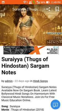 Violin sargam notes for hindi songs