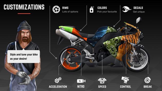 Racing Fever: Moto تصوير الشاشة 3