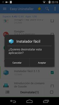 Desinstalador fácil captura de pantalla 5