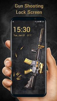 Cool Gun Shooting Lock Screen App poster
