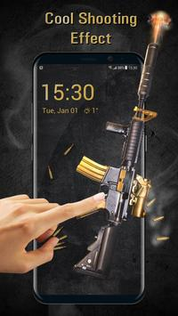 Cool Gun Shooting Lock Screen App screenshot 2