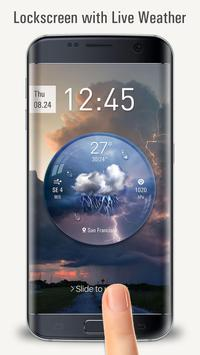 Lock Screen with live weather crystal ball screenshot 1