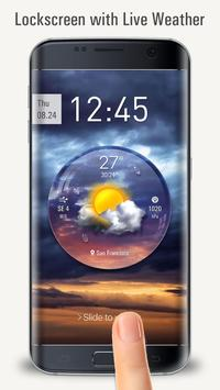 Lock Screen with live weather crystal ball screenshot 2