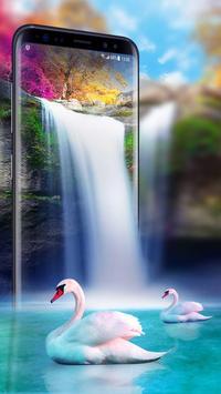 Live Wallpaper Waterfall& Swan screenshot 4
