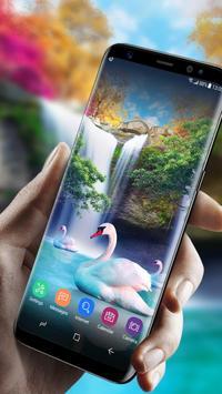 Live Wallpaper Waterfall& Swan screenshot 1