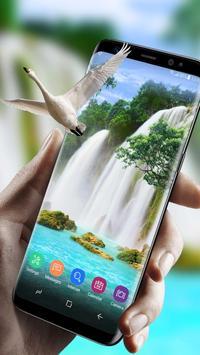 Live Wallpaper Waterfall& Swan screenshot 2