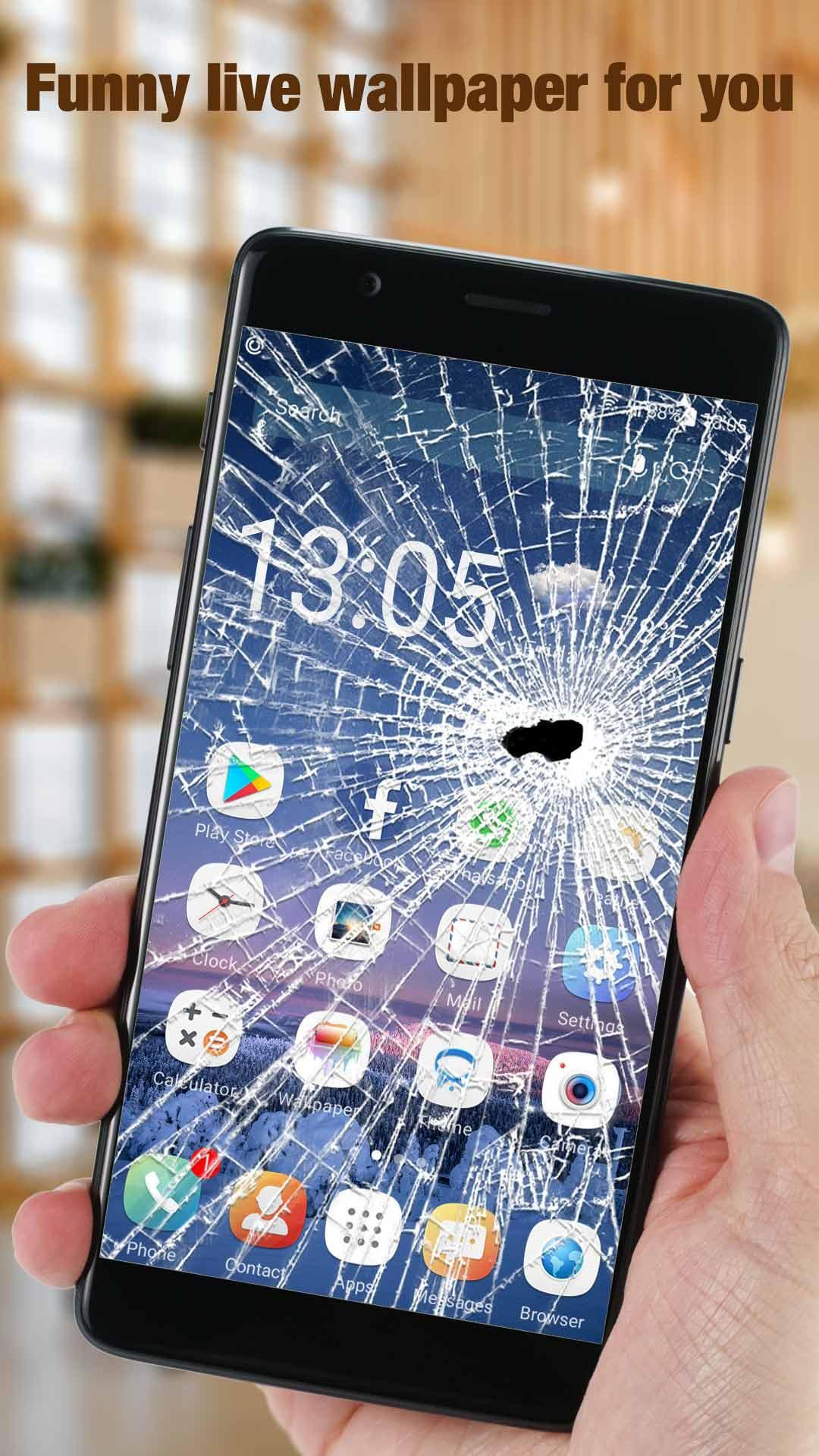 Broken Screen Live Wallpaper Launcher For Prank For Android Apk Download