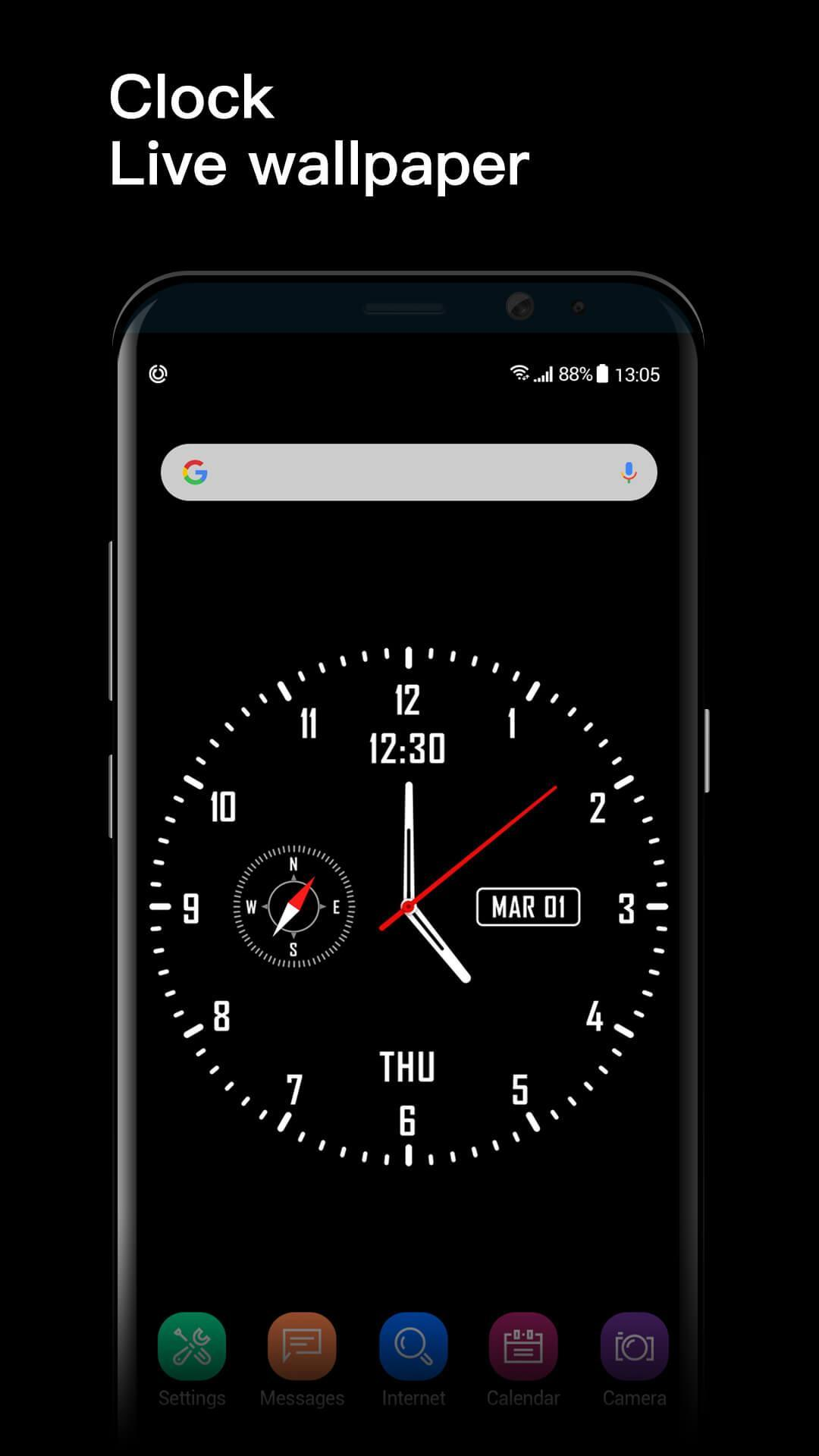 Analog clock & watch face live wallpaper for Android - APK