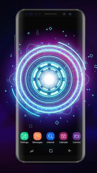Fancy Neon Spinner Live Wallpaper poster