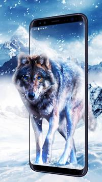 Ice Wolf Live Wallpaper poster