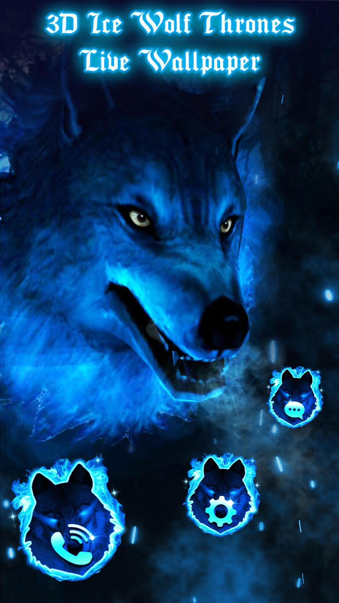 3d Ice Wolf Live Wallpaper For Android Apk Download
