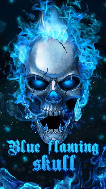 Blue Flaming Skull Live Wallpaper 2018 For Android Apk Download