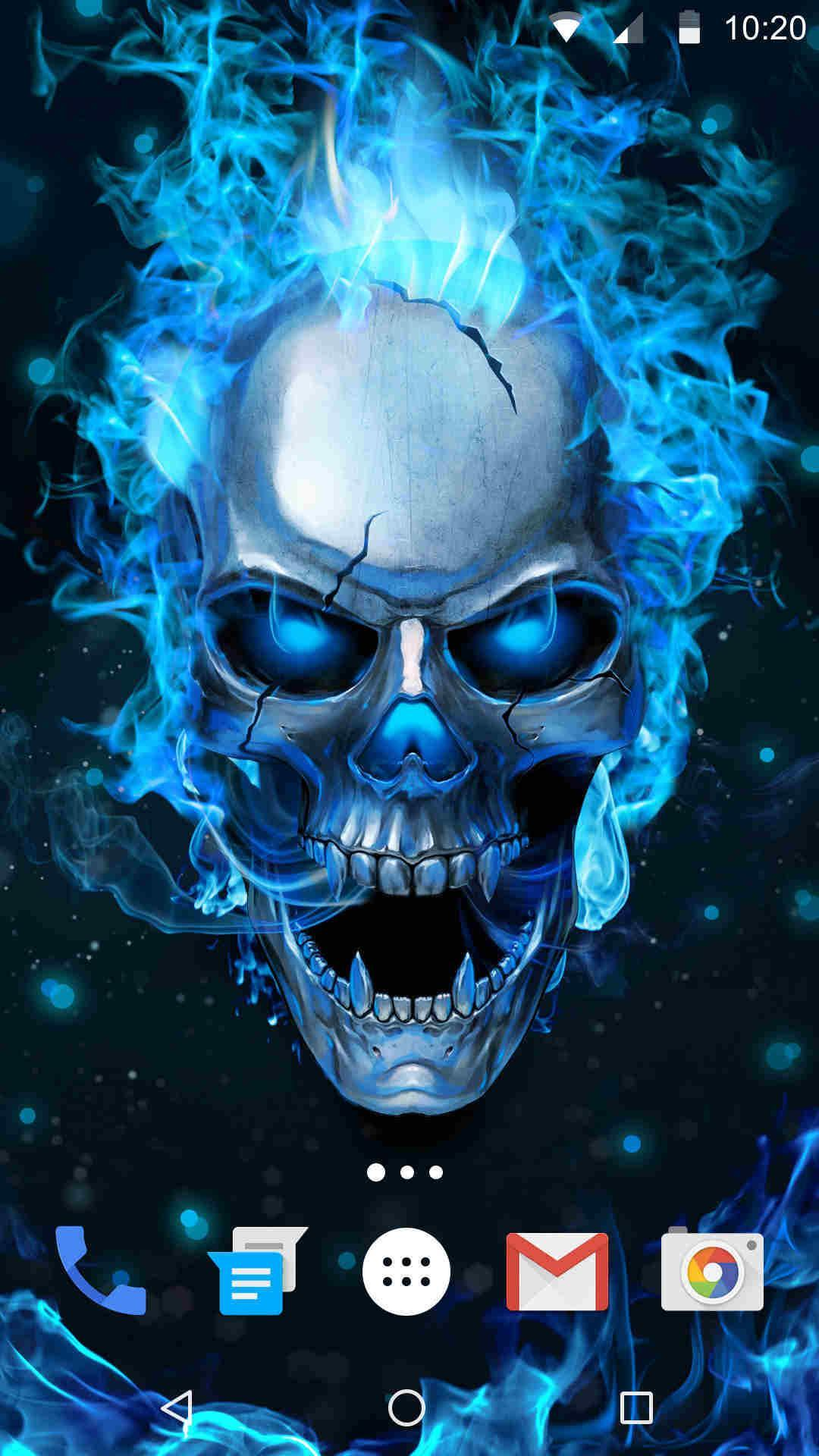 Blue Flaming Skull Live Wallpaper 2019 For Android Apk Download