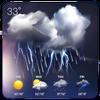 天気アプリ無料  天気ウィジェット - 一週間天気情報を届け アイコン