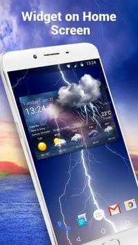 Widget de prévision météo Affiche
