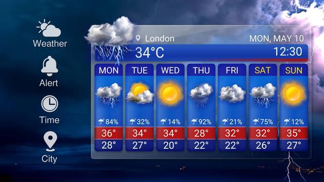 Widget de prévision météo capture d'écran 10