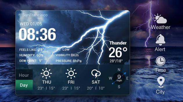 Widget de prévision météo capture d'écran 7