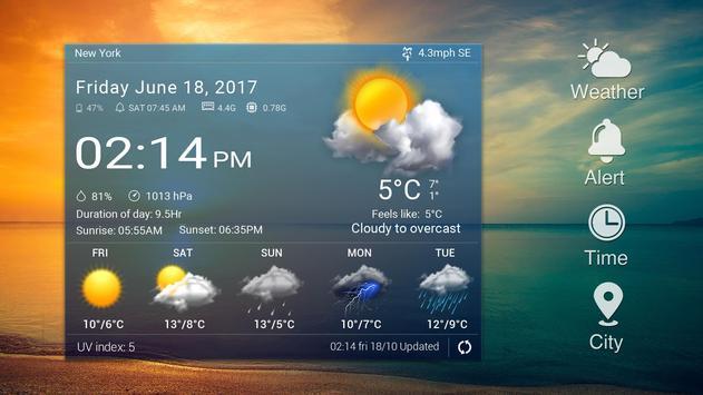 Widget de prévision météo capture d'écran 5