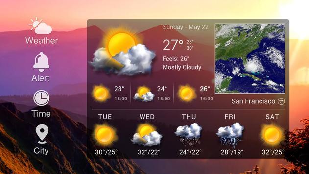 Widget de prévision météo capture d'écran 8