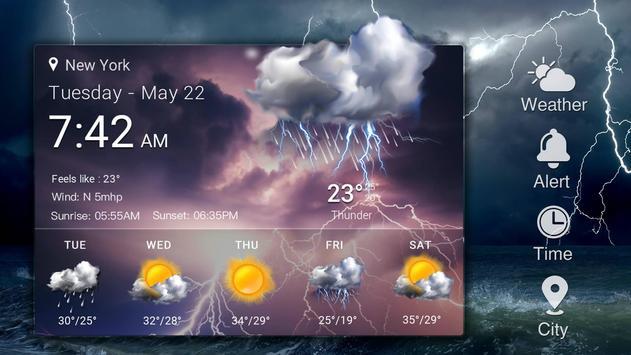 Widget de prévision météo capture d'écran 9
