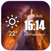 Live weather & Clock Widget アイコン
