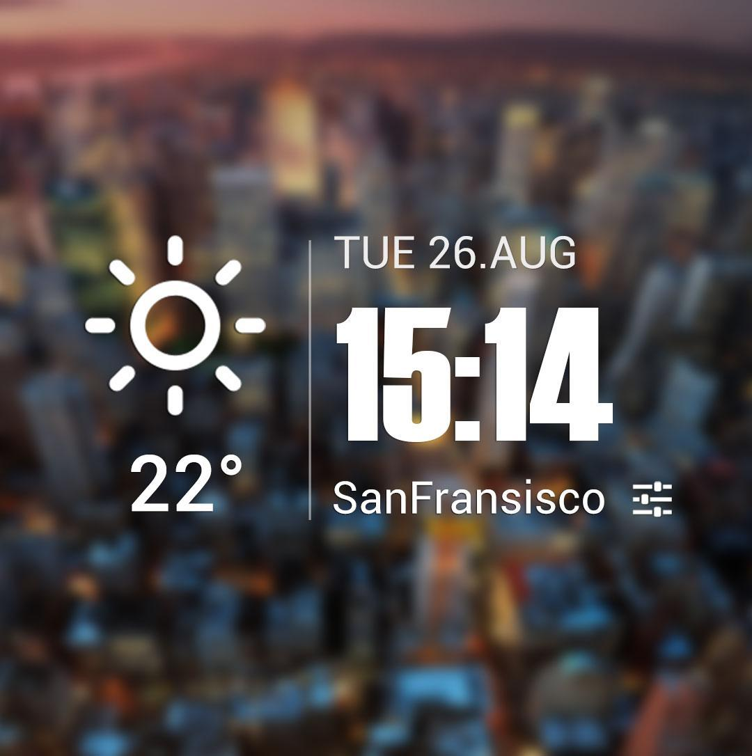 Live weather & Clock Widget for Android - APK Download