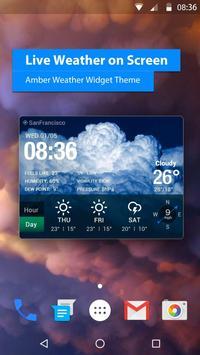 Poster Widget delle previsioni del tempo