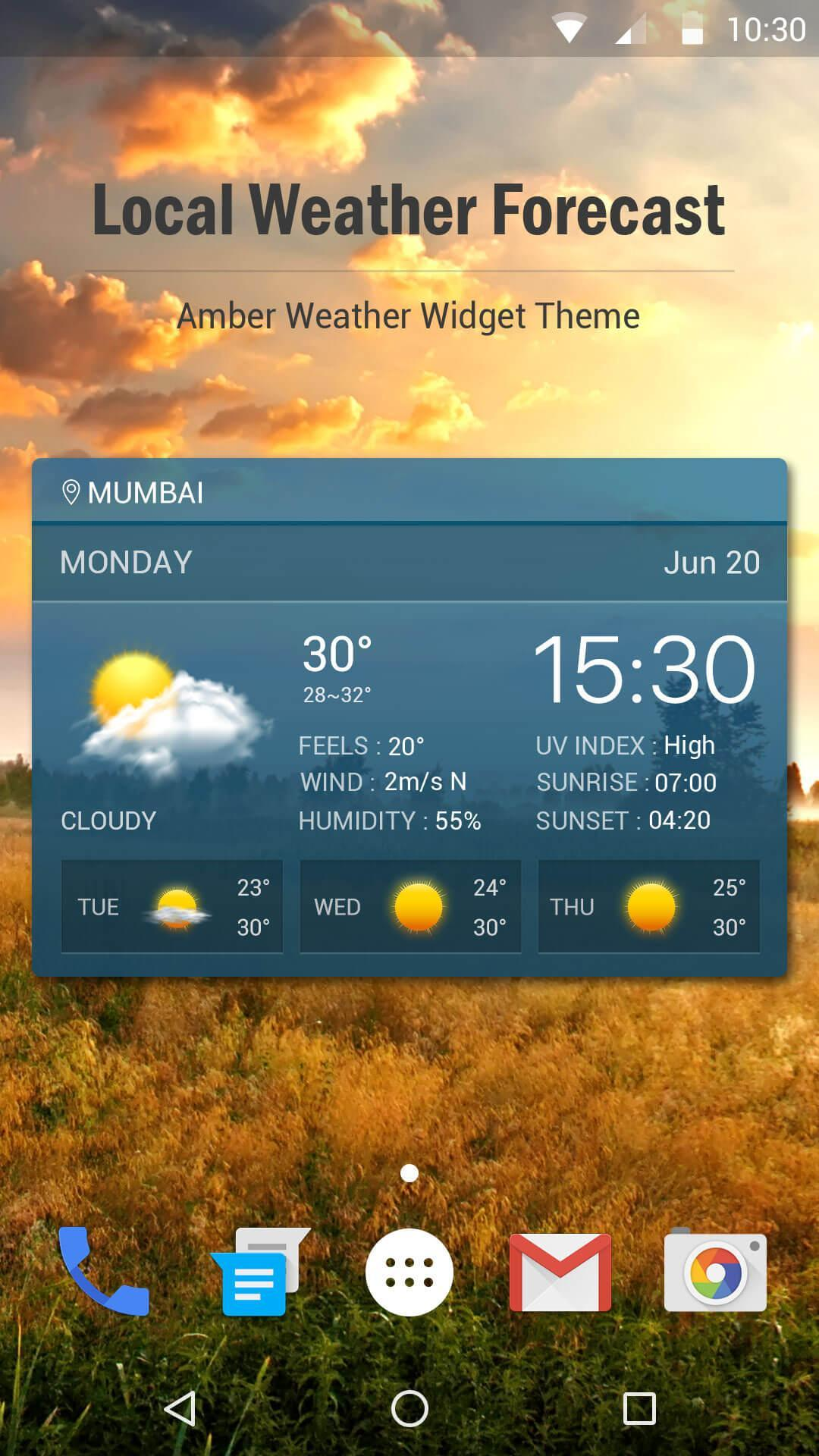 weather forecast and weather alert app   for Android - APK