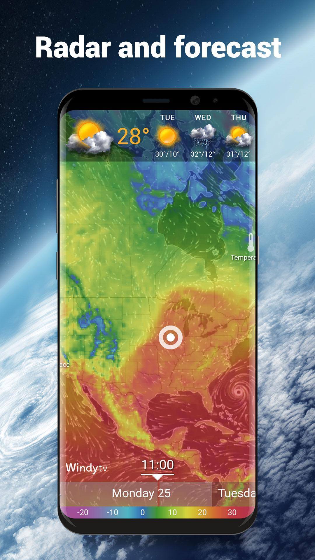 Local Weather Forecast & Real-time Radar checker for Android