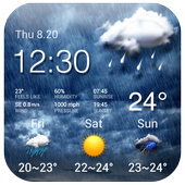 weather on home screen ⚡ icon