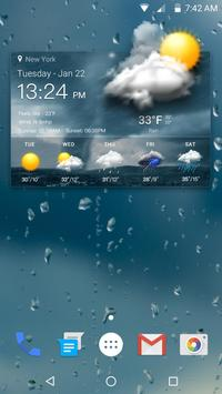 Widget de previsão do tempo imagem de tela 2