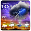 tiempo y temperatura gratis icono