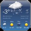 توقعات الطقس وعلى مدار الساعة القطعة أيقونة