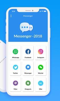 Messenger 2018 - All Social Networks screenshot 1