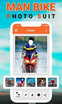 Man Bike Rider Photo Editor poster