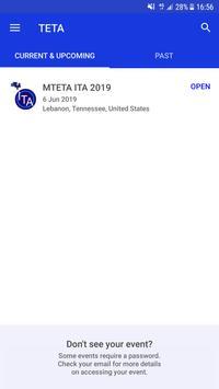 TETA Events App poster