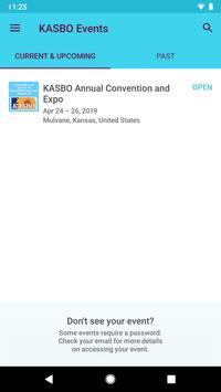 Kansas ASBO Event App poster