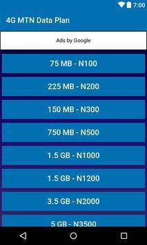 Data Plan for MTN - Nigeria poster